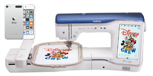 Brother XJ1 Stellaire Sew Embroidery Quilt Machine 9.5x14 Hoop, Apple iPod Touch Snap Mobile Camera +$2500 Bundle: Luggage, BES4, 400 Large Designs