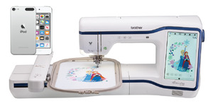 "94751: Brother Innov-ís XE1 Stellaire Embroidery Machine with My Design Snap Mobile iPod, 9.5x14"" Hoop"
