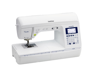 "Replaces Brother Project Runway NQ550, NQ575, and Simplicity SB3150, Brother Pacesetter PS500 100 Stitch Sewing Machine 8.3""Arm ,7pc Feed, Auto Thread, Trim, Backtack, Speed Control, Start Stop, Needle Pos., 7BH, 4Fonts"