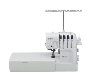 94814: Brother Pacesetter PS5234 Serger, Cut, Sew, Overcast, 2/3/4 Threads, 1300SPM, 1 Touch Needle Thread, Looper Threader, Ext Table, Replaces Same 5234PRW