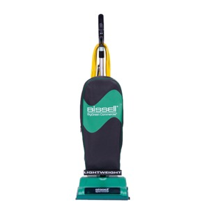 Bissell BGU8500 Perma Belt 8lb Commercial Upright Vacuum, Black Base, Ergonomic Handle with Switch, 40' Cord