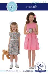 Children's Corner CC302L Victoria Dress Sewing Pattern Sizes 7-14