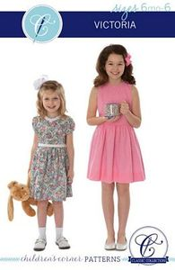 95091: Childrens Corner CC302S Victoria Dress Sewing Pattern Sizes 6mo-6