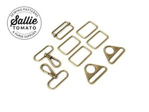 Sallie Tomato LST118A, Antique Brass Townsend Hardware Kit for Travel Bag