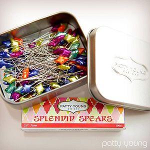 Patty Young Designs PYDSS Splendid Spears Designer 100 Straight Pins