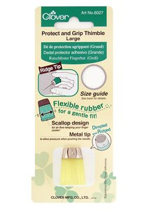 72452: Clover CL6027A Protect & Grip Thimble - Large