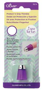 Clover Medum Protect And Grip Thimble Leather Sewing Needle Craft Hobby CL6026