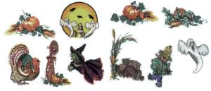Balboa Threadworks 77W Halloween / Thanksgiving 1 5x7 Embroidery Disks