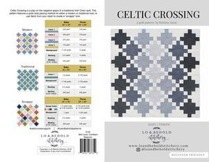 Lo and Behold Stitchery LBS103 Celtic Crossing Quilt Pattern