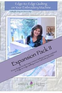 Amelie Scott Designs ASD244, Edge to Edge Expansion Pack 11 Quilting Designs CD