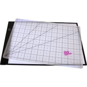 Nifty Notions NN3021, LED Back Lit Lightpad Light Board and Cutting Mat 8 in x 11 in