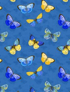 Wilmington Prints 1406 28136 445 Madison Butterflies Blue