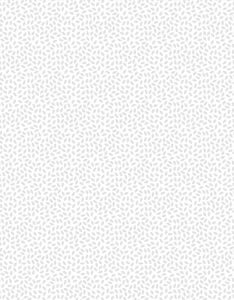 Wilmington Prints 1817 39130 100 Essentials White-Lite Grains White on White