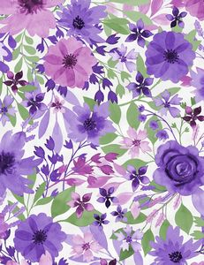 Wilmington Prints 3017 27579 167 Amethyst Magic Large Floral White