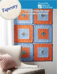 95312: DIME Tapestry Collection, 22 Quilting Designs for 5x7 6x10 Hoops