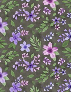 Wilmington Prints 3017 27580 967 Amethyst Magic Medium Floral Black