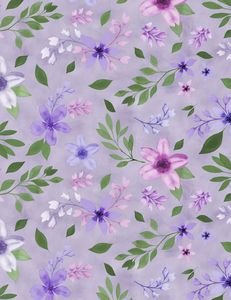 Wilmington Prints 3017 27580 667 Amethyst Magic Medium Floral Purple