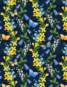 Wilmington Prints 1406 28132 454 Madison Floral Trails Blue