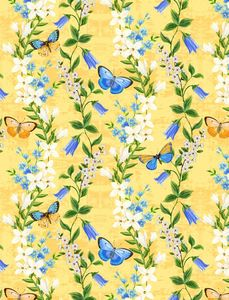 Wilmington Prints 1406 28132 514 Madison Floral Trails Yellow