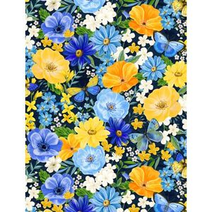 Wilmington Prints 1406 28131 445 Madison Large Floral Blue
