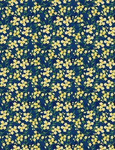 Wilmington Prints 1406 28135 457 Madison Tiny Floral Blue/Yellow
