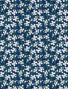Wilmington Prints 1406 28135 417 Madison Tiny Floral Blue/White