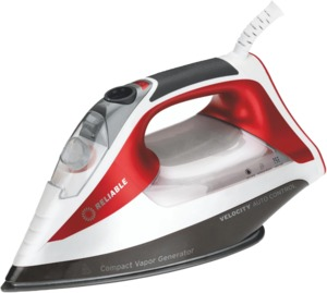Reliable Velocity 260IR, Auto Control Steam Iron, 8min Auto Shutoff with Bypass for Sewers and Quilters