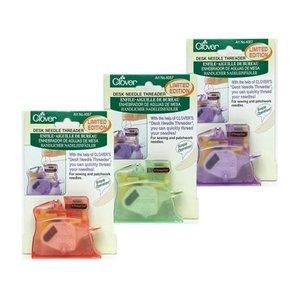 64702: Clover CL4071 Pastel Color Desk Needle Threader, Choose Purple Green or Pink