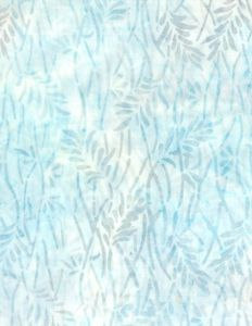 Wilmington Prints 1400 22232 140 Delicate Leaves Cream/Blue
