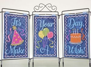 Janine Babich Designs JBDIYD, It's Your Day! Table Top Display Birthday Card In the Hoop Embroidery CD