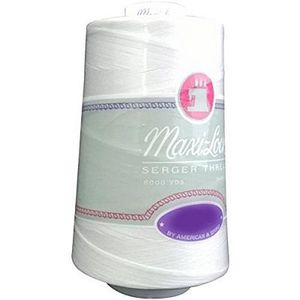 81376: Maxi-Lock AF6-W, MLT60-001 White Thread Cone 60wt Poly 6000yds
