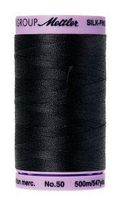 Mettler 9104-4000 Silk Finish Cotton Thread 50wt 500m, 5 Spools of Black
