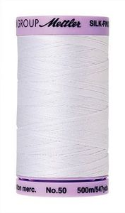 95714: Mettler 9104-2000 Silk Finish Cotton Thread 50wt 500m x 5 Spools of White