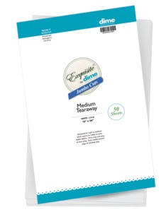 "95740: DIME H3201524 Jumbo Cuts Medium Tearaway Embroidery Stabilizer Backings, 50 of 15"" x 24"" Sheets"