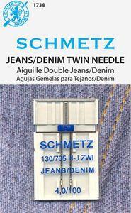 Schmetz s-1738 DOUBLE/ twin DENIM NEEDLE 4.0/100