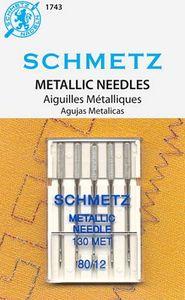 Schmetz Needle S-1743 Metallic 5-pk sz12/80, 10pkg/box