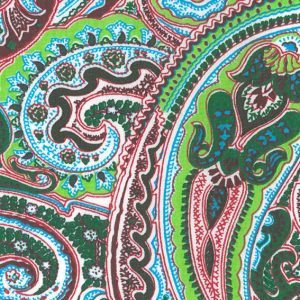 Fabric Finders 1475 Green Paisley Fabric by the yard