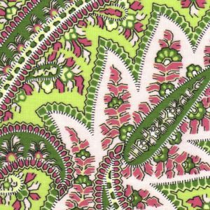 Fabric Finders 1970 Pink and Green Paisley Fabric  by the yard