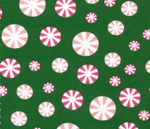 Fabric Finders 1952 Peppermint Candy Fabric – Green by the yard