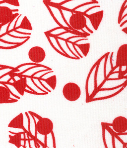 Fabric Finders CD35 Floral Corduroy Fabric Red/White by the yard