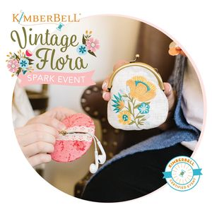 96083: Kimberbell Vintage Flora Spark 4 Hour Machine Embroidery Event May 16 San Antonio Store
