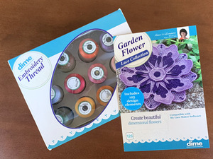 Embroidery Garden EGFLC, Garden Flower Lace Collection with DIME Thread Kit