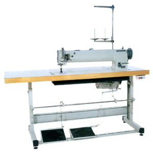 """Highlead GC20698-2L Double Needle 40"""" LongArm Walking Foot Industrial Sewing Machine, 8/16mmFootLift, M Bobbin, Safety Clutch, Power Stand 1800RPM"""