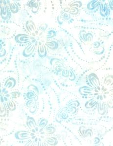 Wilmington Prints 1400 22233 114 Floating Flowers Cream/Blue