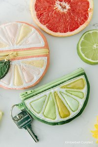 Kimberbell, Citrus, Sunshine, Collection, Machine Embroidery, Embroidery, Patterns, Towel, Tote, Pillow, Coin Purse