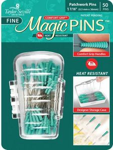Taylor Seville Originals MAGPFINE50, Magic Straight Pins for Patchwork, Fine 1-7/16in Long 50 pins