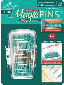 """95957: Taylor Seville Originals MAGPFINE100 Magic Pins Patchwork Fine 1 7/16"""" 100 pins"""