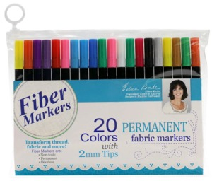 95997: DIME Fiber Markers, 20 s Permanent Color Pens for Threads and Fabrics