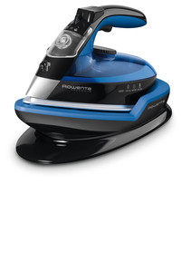 Rowenta DE5020 Freemove Cordless Steam Iron, Recharge Light On Base, 8 Minute Auto Off, Anti Calc, Anti Drip