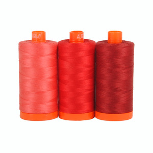 Aurifil Color Builder Pompeii Red 3pc. Thread Collection